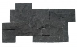 wall cladding 02 gray black andesite 25x50